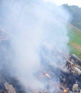 Во время пожара в частном доме ярцевскими огнеборцами спасен человек