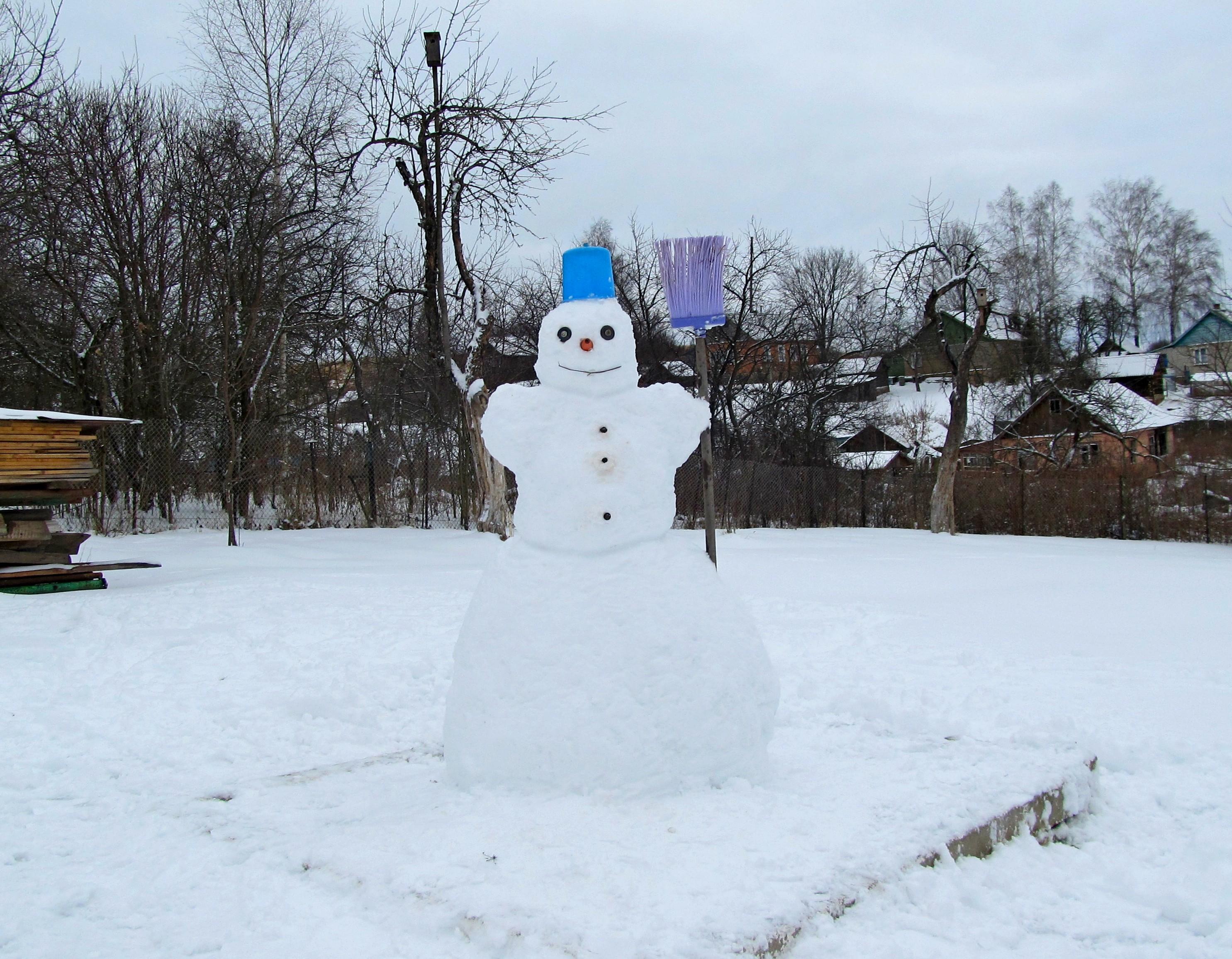 Снеговик Дмитрия и Ольги. Победитель конкурса
