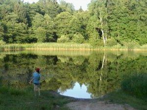 Места для купания ярцевчан. Озеро Святец.