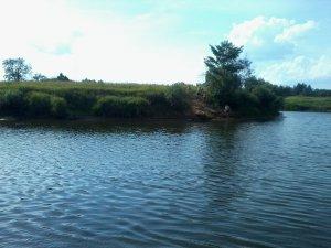 Места купания ярцевчан. Пляж на реке Вопь в районе интерната