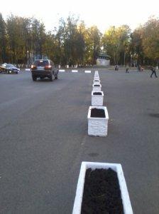 Площадь Победы огородили